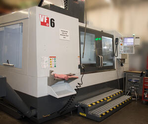 HAAS-VF6.40 in its new location inside the factory