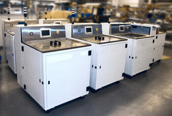 6 medium sized machines during the end stages of production