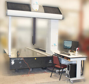 DEA advantage CMM machine front view with worker station