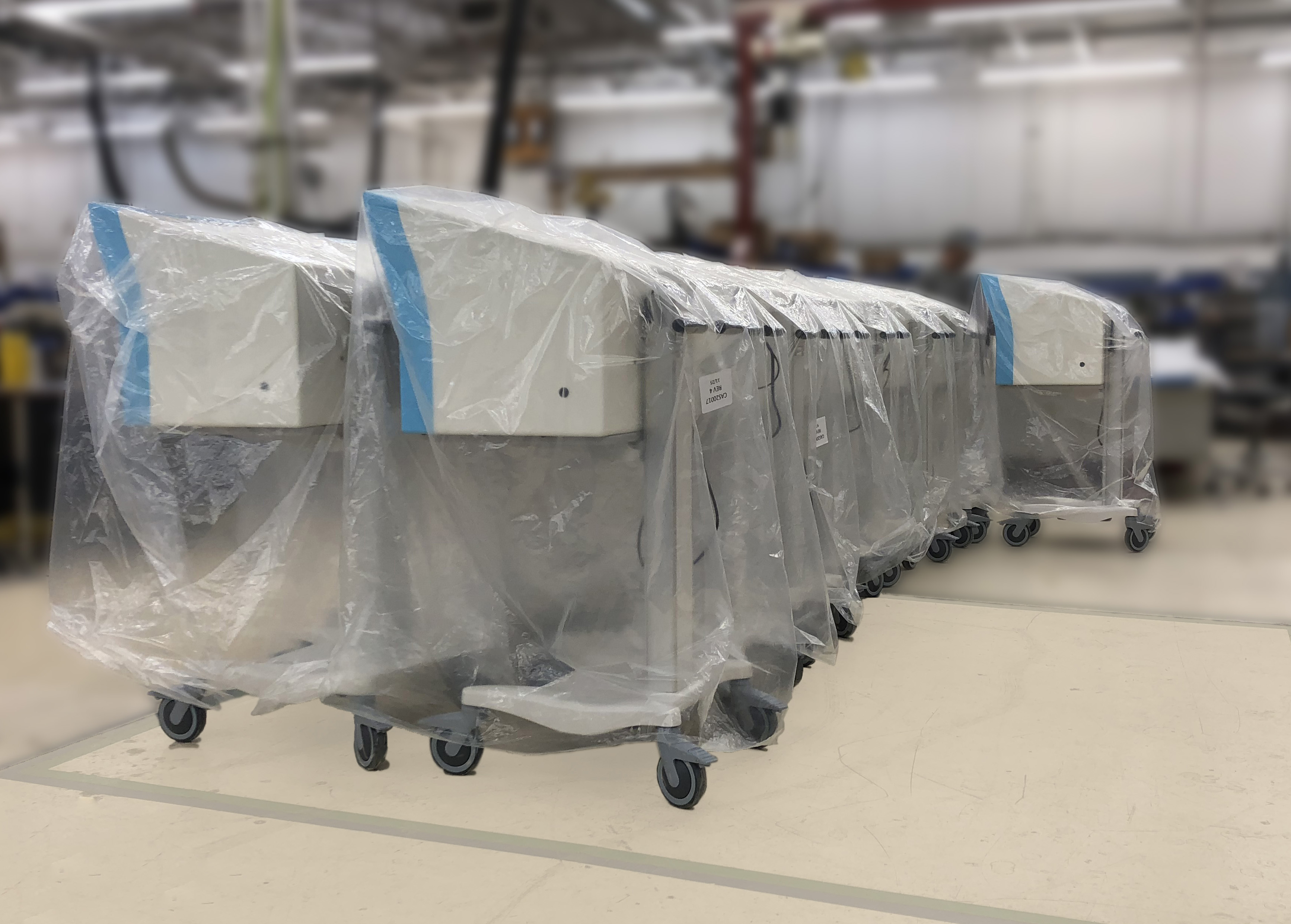 Mid-volume medical device builds ready for shipment