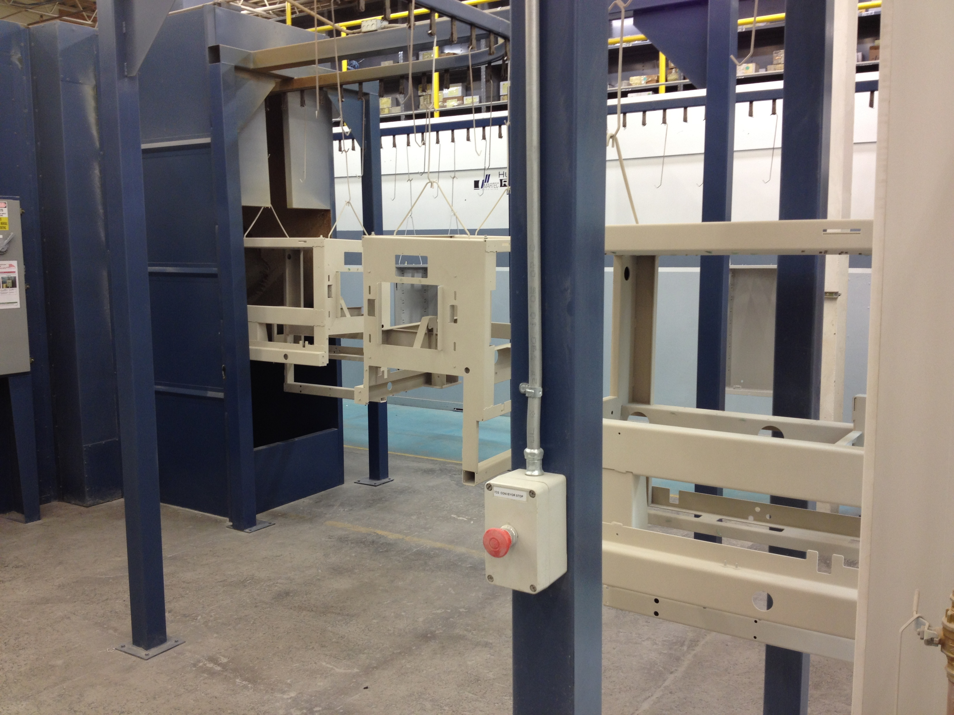 Automated powder coat lines in motion